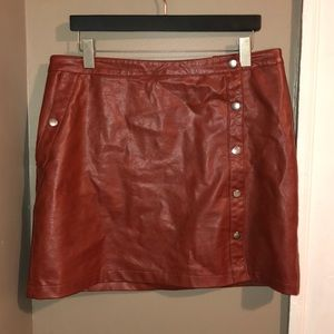 Urban Outfitters brown faux leather skirt